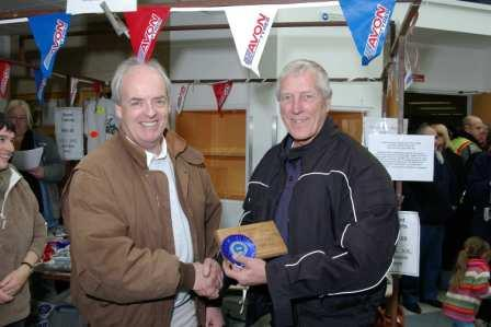 Chas Mortimer & Prizewinner at Ashford Classic Bike Show 2008